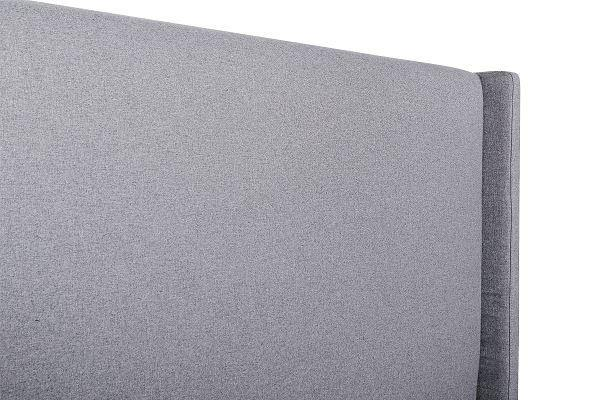 HARROLD Rhino Grey Fabric Wing Bed Fabric Bed Frame Bedroom Factory