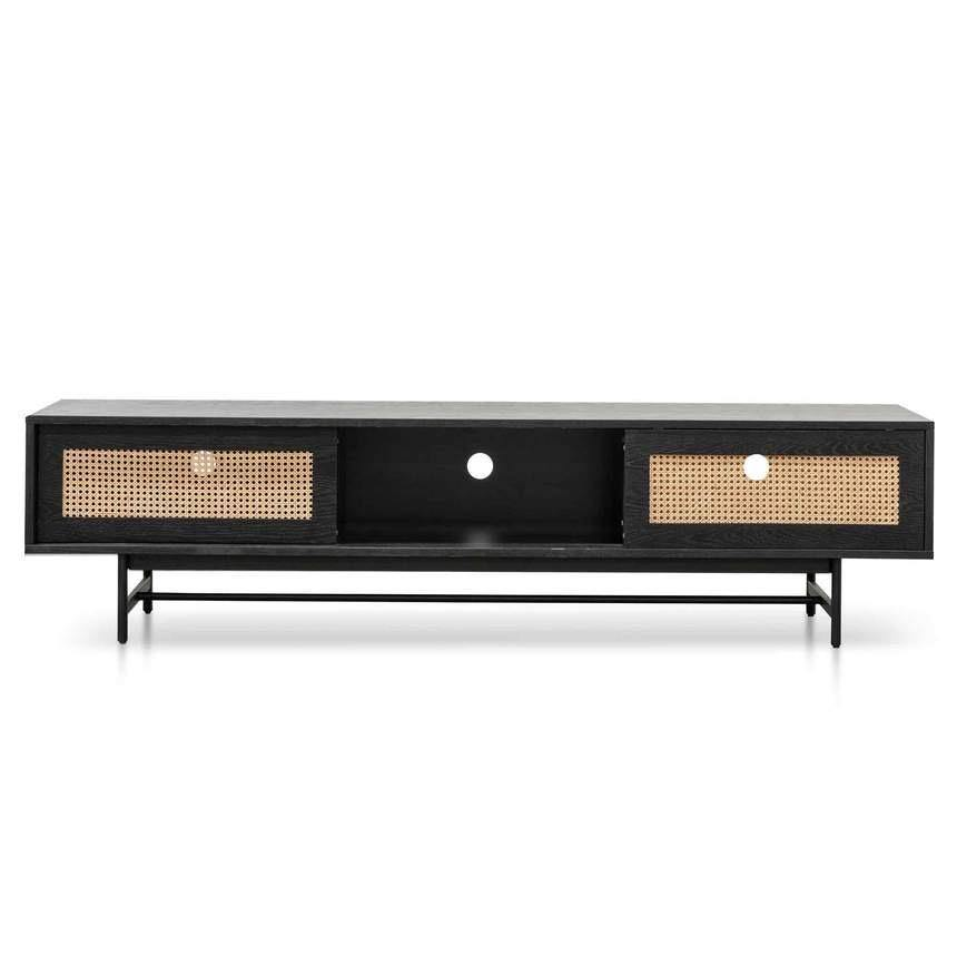 CARDINA black natural entertainment unit sideboard + buffet Bedroom Factory