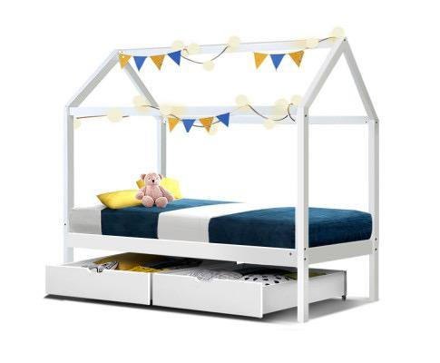 NIX KIDS white house bed frame Bed Frame WYLD HOME