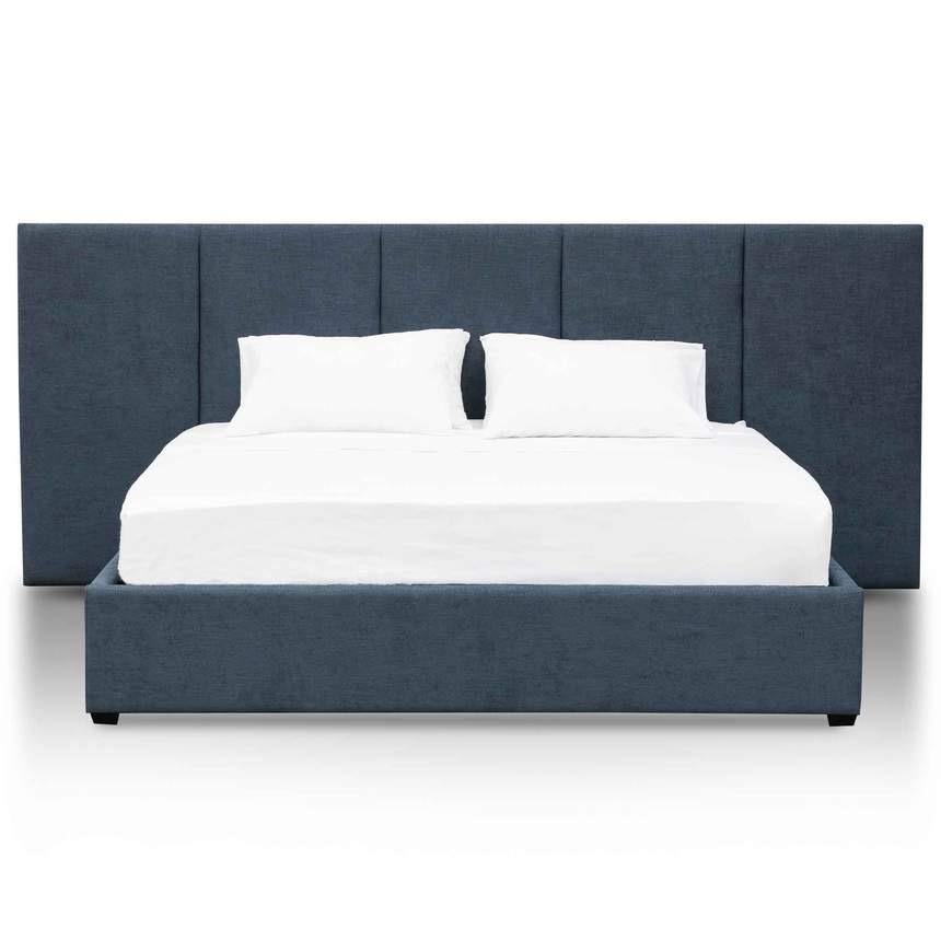 MEGO blue fabric wide bed head designer bed frame Bed Frame Bedroom Factory