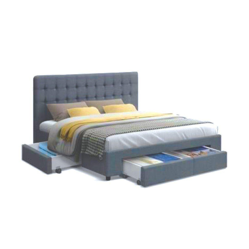 KANE Grey Fabric Storage Bed Frame Bed Frame Bedroom Factory