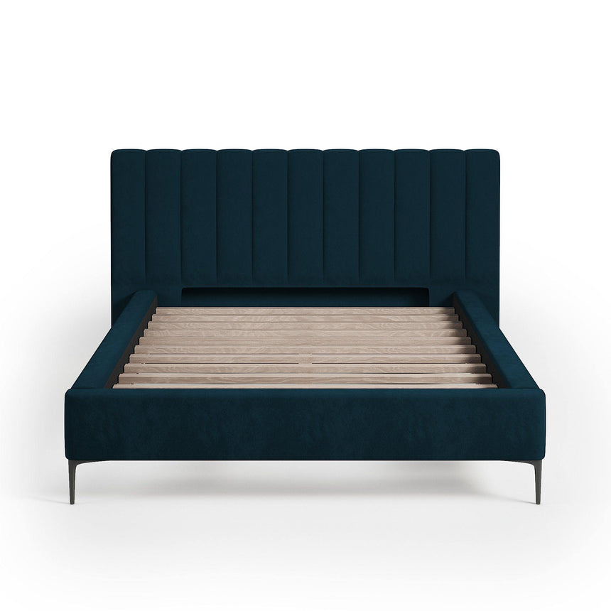 MATILDA Supreme Velvet Plush Denim Fabric Bed Frame (Australian Made) Bed Frame Bedroom Factory