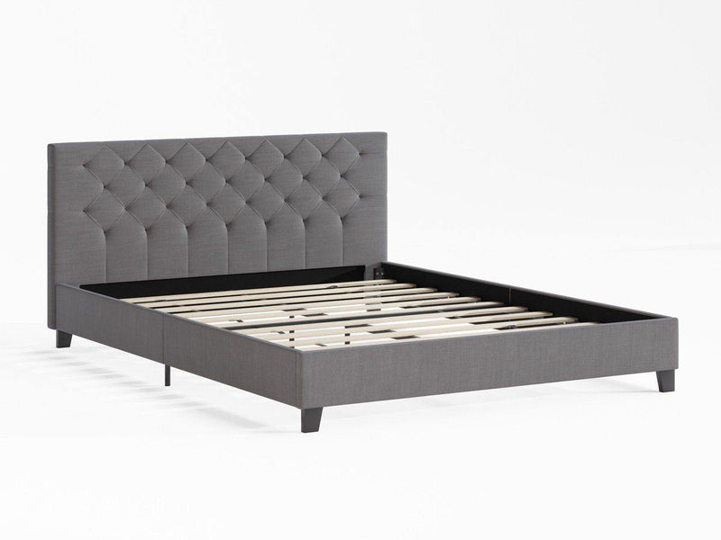 ARIANA Grey Fabric Bed Frame Bed Frame Bedroom Factory