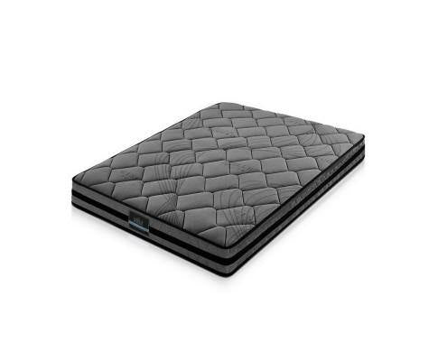 GRAPHITE GREY Foam Pocket Spring 22cm Grey Mattress (15 Year Warranty) Mattress Bedroom Factory