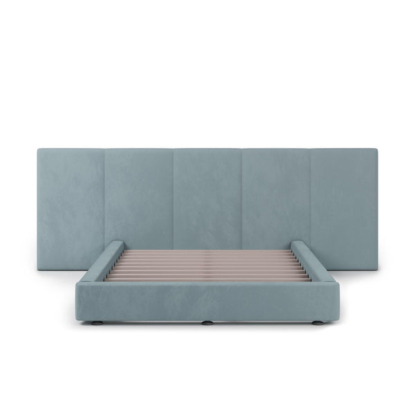 FELUXE Velvet Plush Sky Fabric Bed Frame (Australian Made)