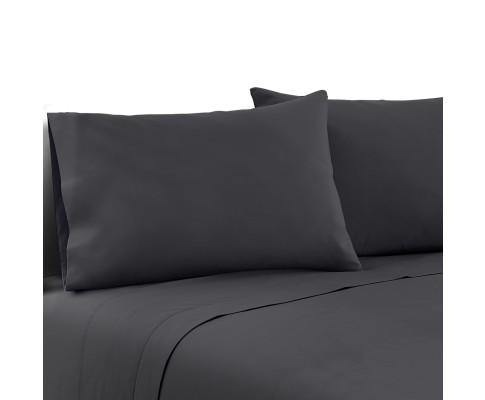 LUXE Charcoal Bed Sheets Bedding Bedroom Factory