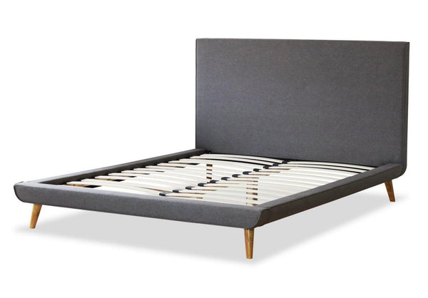DYLAN Grey Fabric Bed Frame Bed Frame OH MY Mattress