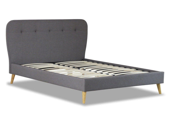 NATE Grey Fabric Bed Frame Bed Frame OH MY Mattress