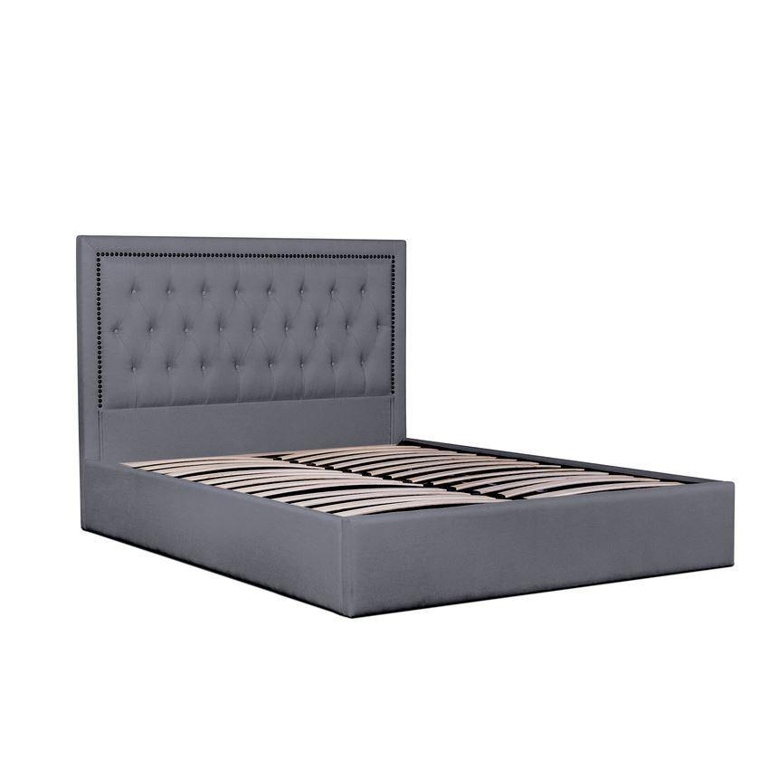 BERRY Grey Fabric Gas Lift Bed Frame Bed Frame Bedroom Factory