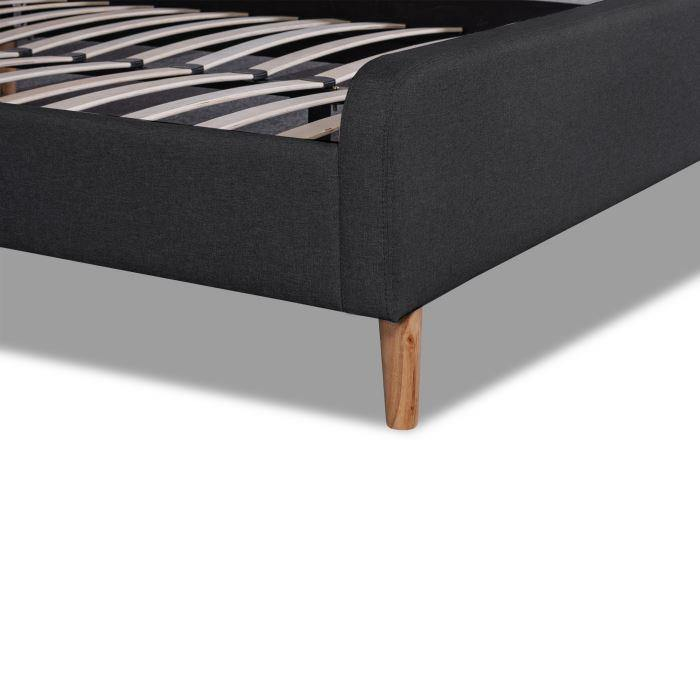 KARL Charcoal Fabric Bed Frame Bed Frame Bedroom Factory