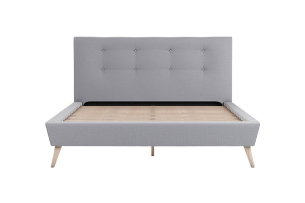 BENNY Grey Fabric Bed Frame Bed Frame Bedroom Factory