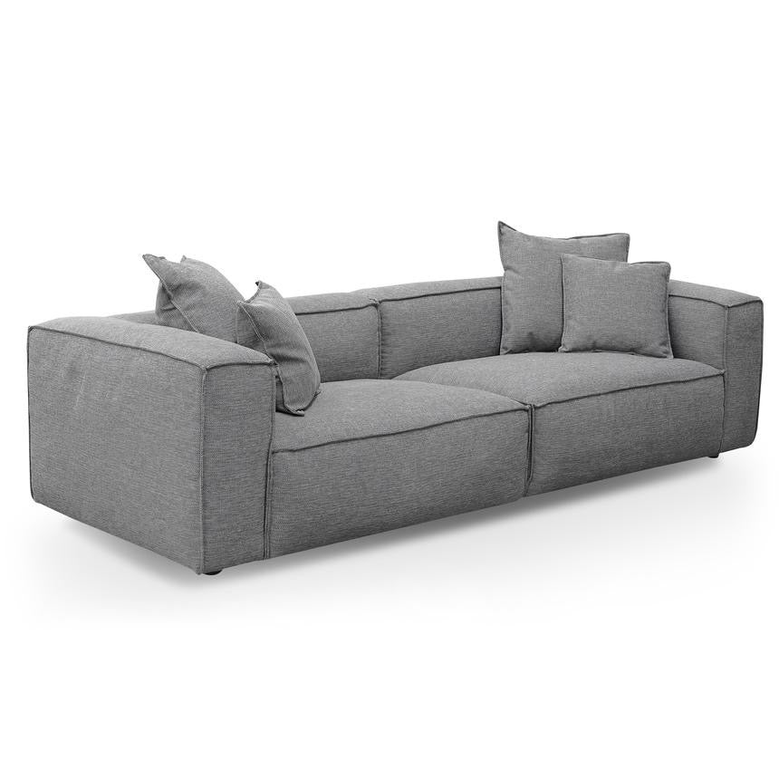 CHUNKY 3 Seater Sofa with Cushion and Pillow - Graphite Grey