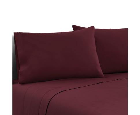 LUXE Burgundy Bed Sheets Bedding Bedroom Factory