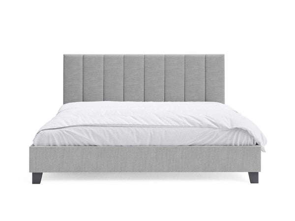 JACOB Grey Fabric Bed Frame