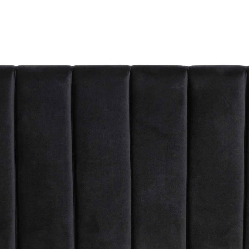 DIXON black velvet fabric wide bed head designer bed frame Bed Frame Bedroom Factory