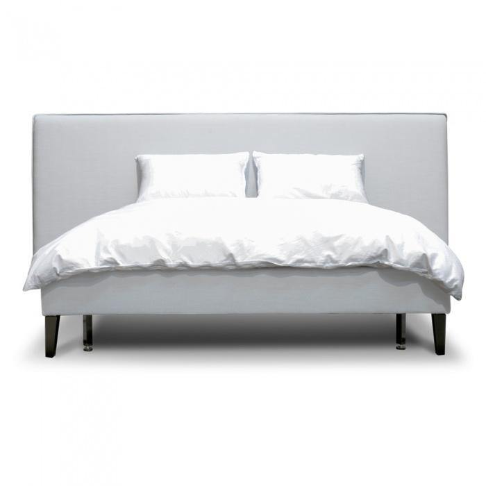 JADE Cement Grey Fabric Bed Frame