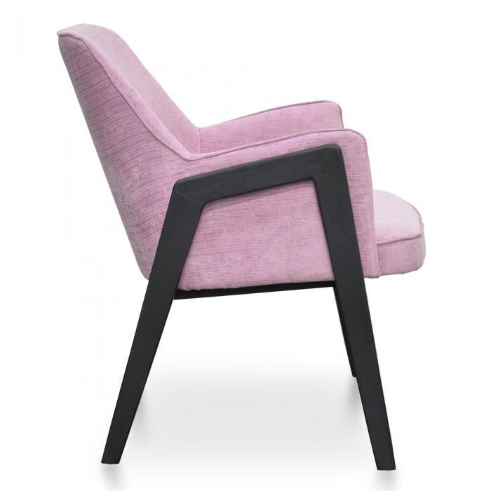 ZEDA Pink Black Lounge Chair Statement Chairs Bedroom Factory