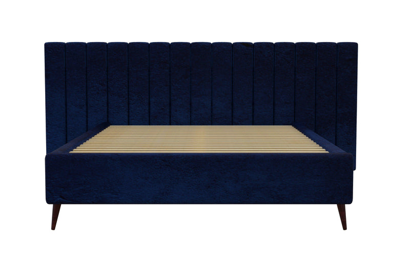 LEXIA Bed Frame (Wide Bed Head) Blue Bed Frame Bedroom Factory