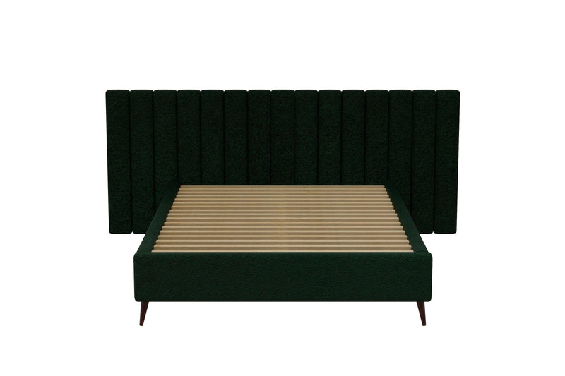 LEXIA Bed Frame (Wide Bed Head) Green Bed Frame Bedroom Factory