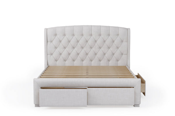 GEORGIA Stone Fabric Storage Bed Frame Bed Frame Bedroom Factory
