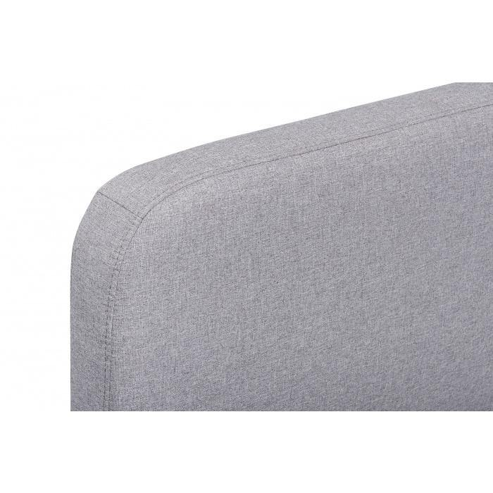 KARL Rhino Grey Fabric Bed Frame