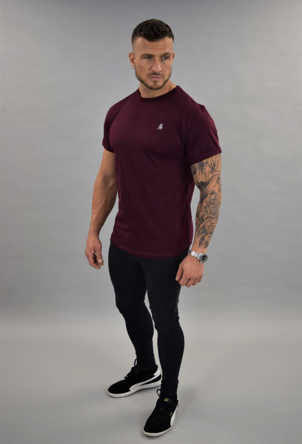 Burgundy Slim Fit Tshirt