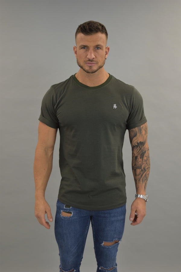 Khaki Slim Fit T-shirt