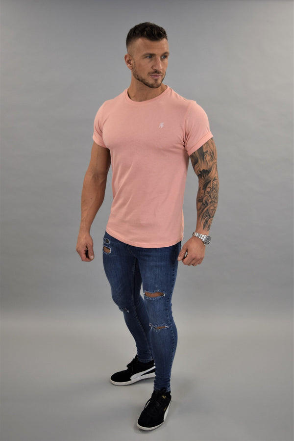 Peach Slim Fit T-shirt