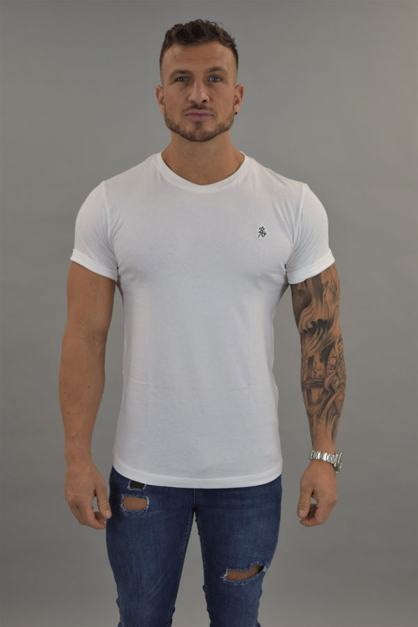 White Slim Fit Tshirt