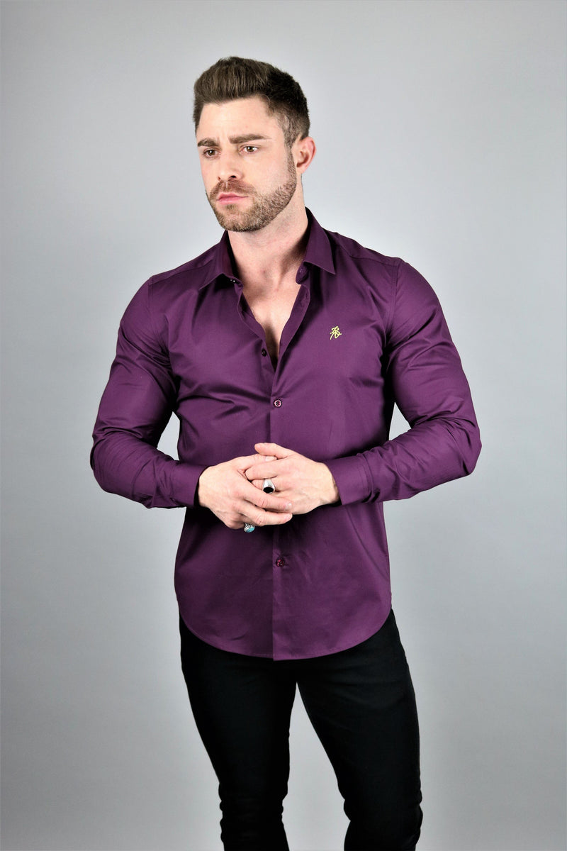 Lux Purple Slim Fit Shirt