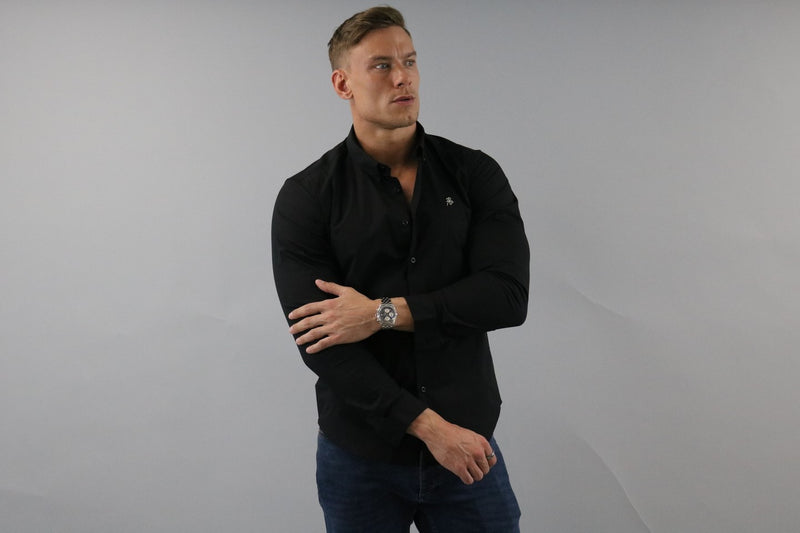 Men's Black Slim Fit Shirt | Rose Noir