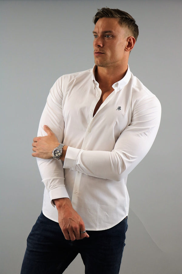 Men's White Slim Fit Shirt | Rose Noir
