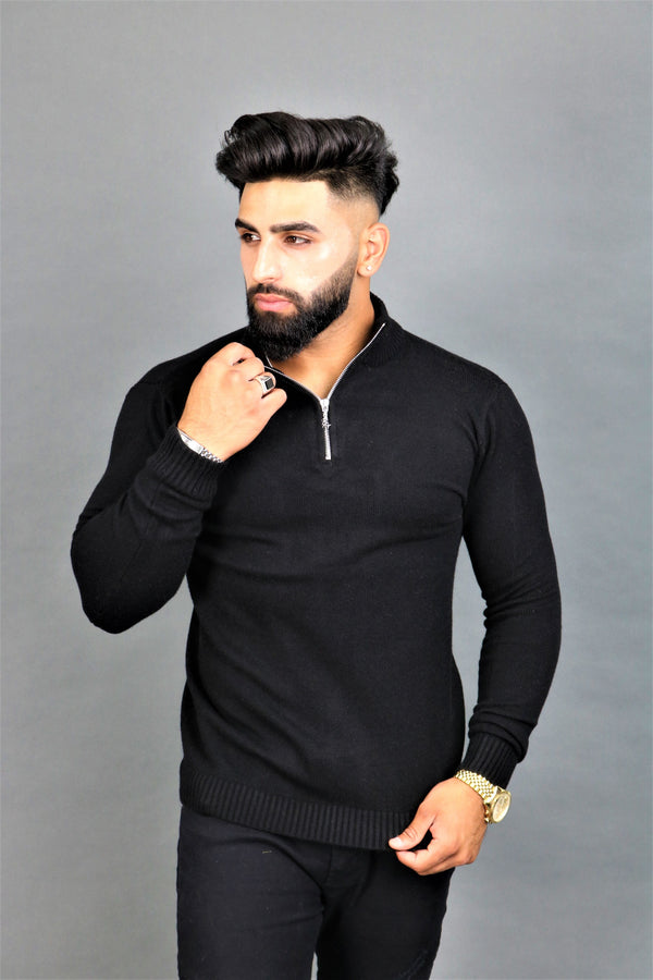 Black Zipper Jumper