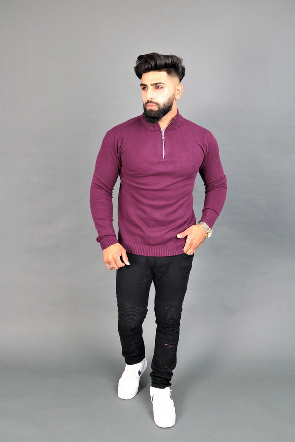 Purple Zipper Jumper