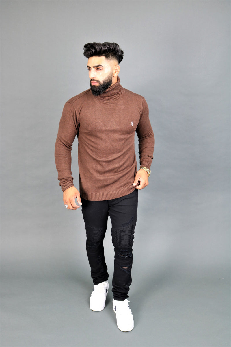 Brown Turtle Neck