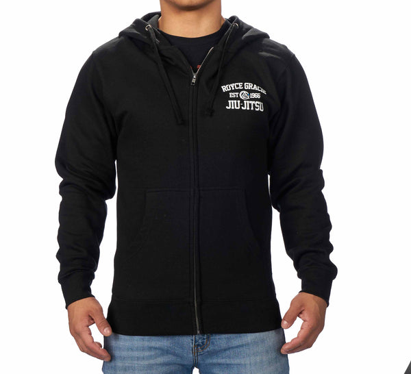 Royce Gracie Black Zip Up Hoodie
