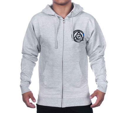 Royce Gracie Grey Zip Up Hoodie