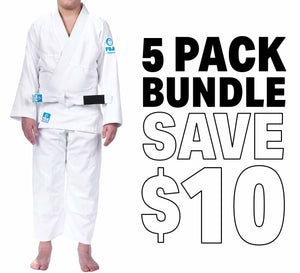 Starter BJJ Kids Gi Bundle (5 Pack)