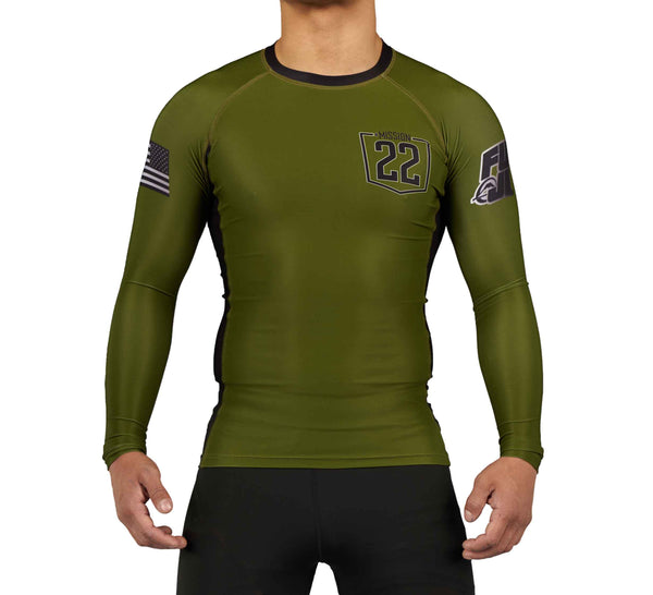 Mission 22 Military Green Long Sleeve Rashguard
