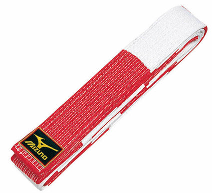Mizuno Red & White Belt