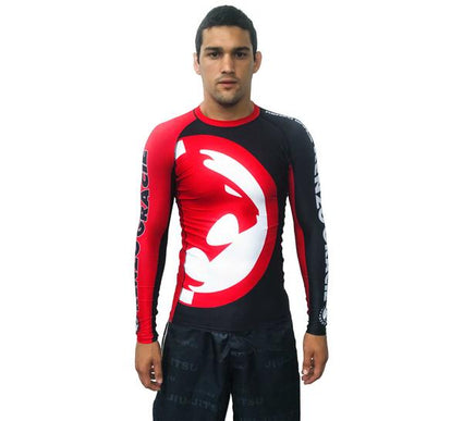 Renzo Gracie Red/Black Long Sleeve Rashguard