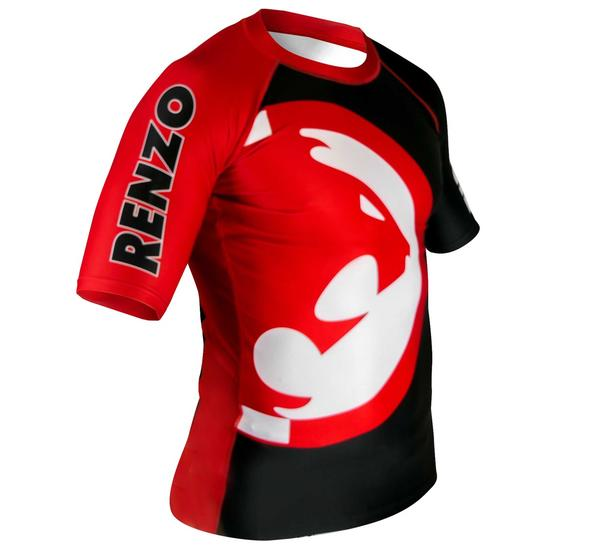 Renzo Gracie Red/Black Short Sleeve Rashguard