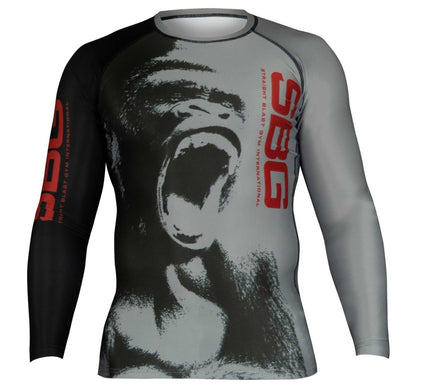 SBG Screaming Gorilla Short Sleeve Kids Rashguard