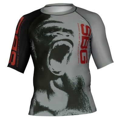 SBG Screaming Gorilla Short Sleeve Womens Rashguard
