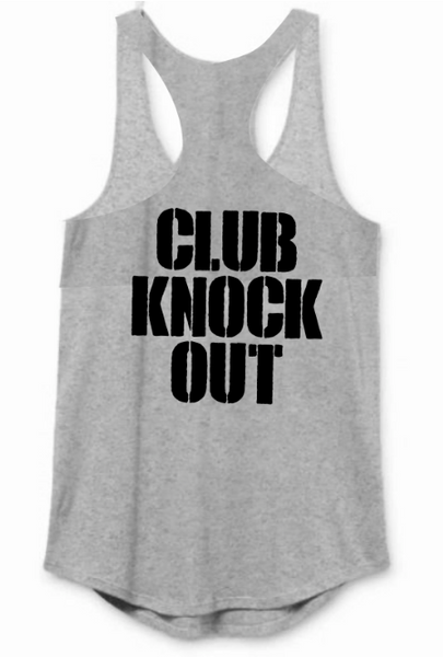 CKO Women's Lightweight Club Knock Out Racerback Tank Grey