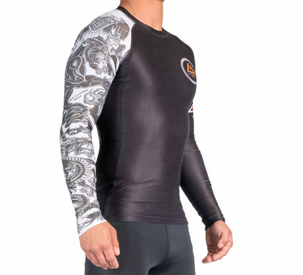 Rilion Gracie Tattoo Long Sleeve Rashguard