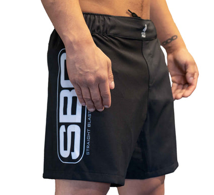 SBG Black/Grey Fight Shorts