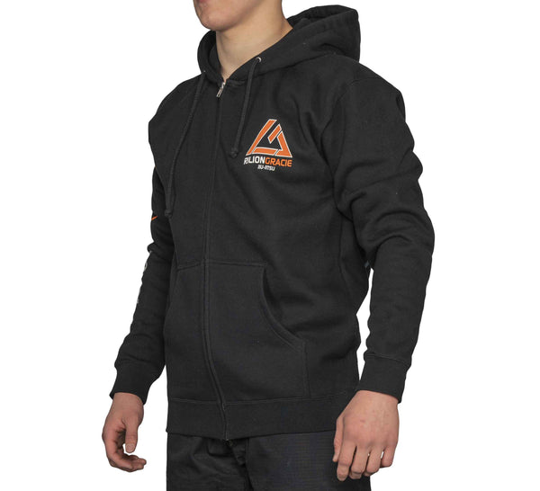 Rilion Gracie Black Classic Hoodie - Adult and Youth