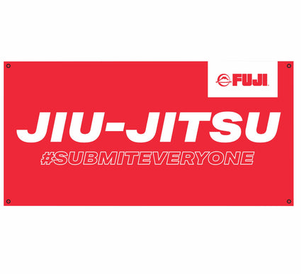 Submit Everyone Red Vinyl Banner
