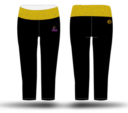 Kayla Harrison Fitness Capri, Black/Gold